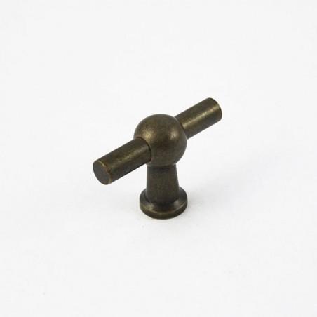 T Knopf Bronze Antik