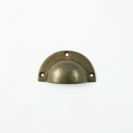 Muschelgriff Bronze Antik