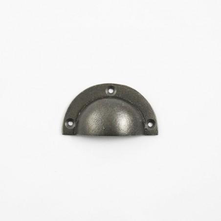Muschelgriff Grau Lackiert